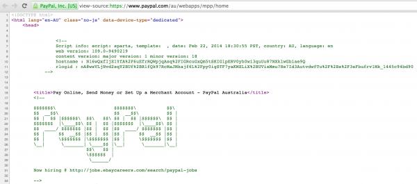 PayPal Login Source